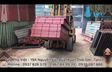 Quy trình sản xuất cốp pha mương rãnh u tại Cốp Pha Việt