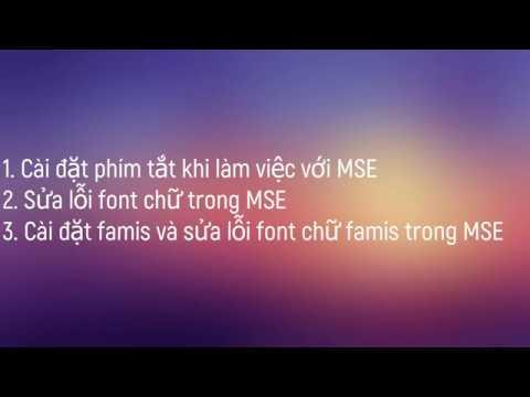 Hướng dẫn sửa lỗi font chữ tiếng Việt trong Microstation SE, Famis
