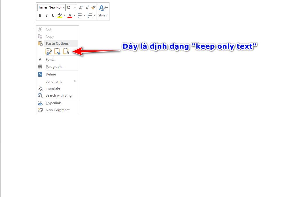 Lỗi copy từ web sang word và cách khắc phục