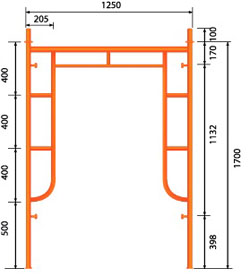 Cấu tạo bộ giàn giáo xây dựng 1.7m chất lượng và an toàn