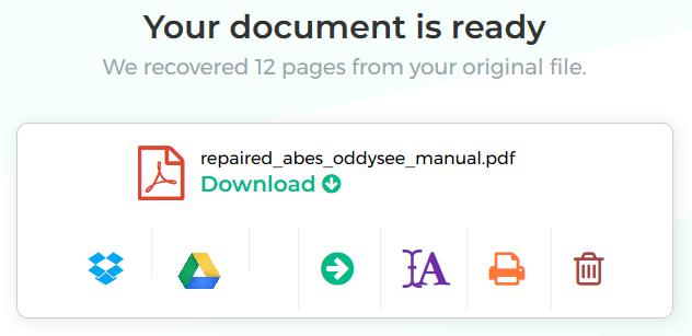 Cách sửa chữa, khôi phục dữ liệu từ file PDF bị hỏng