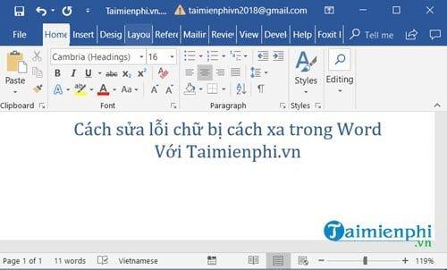[TaiMienPhi.Vn] Cách sửa lỗi chữ bị cách xa trong Word 2016, 2003, 2013, 2007, 2010