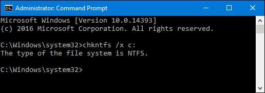 Kiểm tra và sửa lỗi ổ cứng bằng lệnh chkdsk trên Windows
