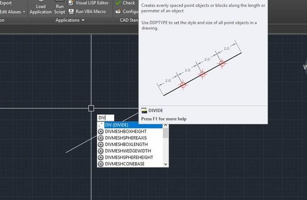 Bật mí cách dùng lệnh chia đoạn thẳng trong Cad đơn giản nhất