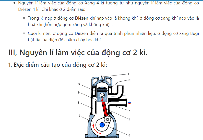 Nguyên lý làm việc của động cơ diezen 2 kì - Giáo viên Việt Nam