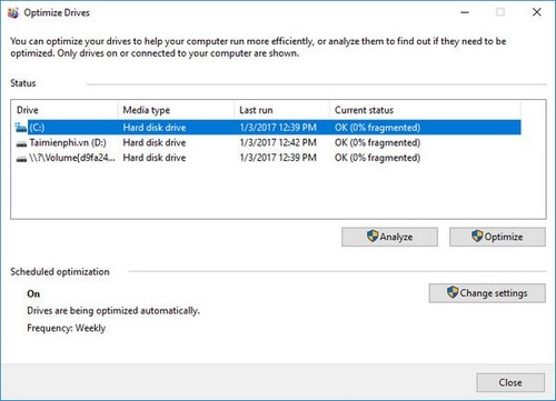 [TaiMienPhi.Vn] Cách sửa lỗi Full Disk 100% trên Windows 10, 7, lỗi 99% disk