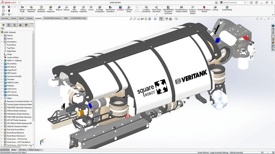 Giao diện SOLIDWORKS