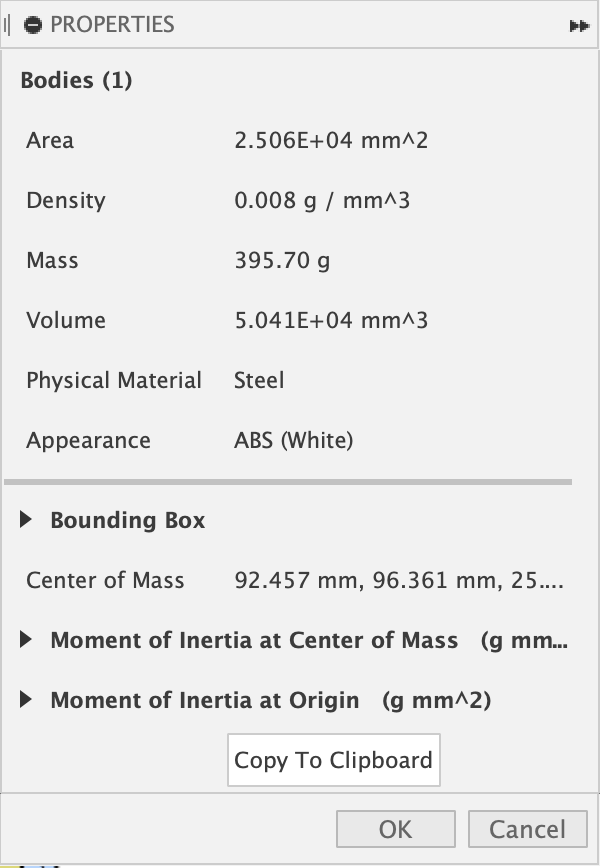 hộp công cụ fusion-360-get-volume-toolbox