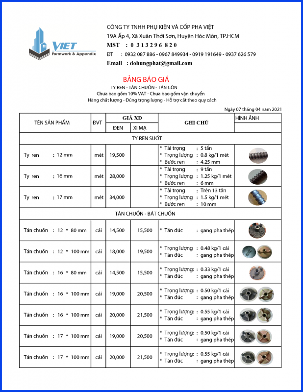 Giá tyren bát chuồn tháng 4 năm 2021